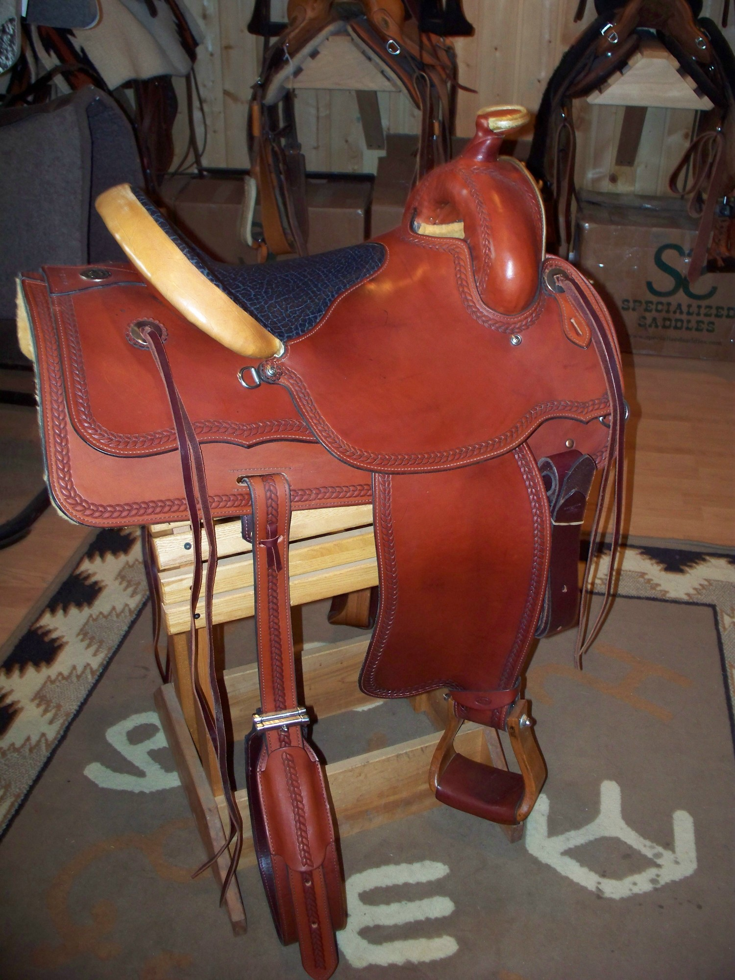 Pikes Peak Saddle built by Bob Brenner